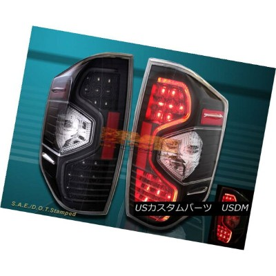 テールライト Black Clear Led Tail Lights For 2014-2015 Toyota Tundra SR5 TRD SR Pickup 2014-2015トヨタトンドラSR5...
