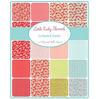 Little Ruby Flannels Charm Pack By Bonnie & Camille; 42 - 5 Precut Fabric Quilt Squares by MoDA
