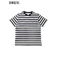 【あす楽】B.W.G (BLUCO WORK GARMENT) BWG PECIAL BORDER T-SHIRTS TEE white/black ボーダー ポケット Tシャツ ホワイト/ブラック