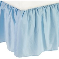 American Baby Company 100% Cotton Percale Ruffle Crib Skirt, Blue by American Baby Company [並行輸入品]