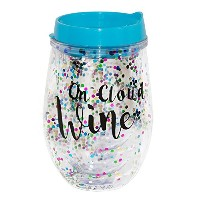 """Mainstreetコレクション"""" on Cloudワイン""""紙吹雪ワインSippy Cups with Removable蓋"""