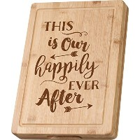 This is Our Happily Ever After木製カッティングボード