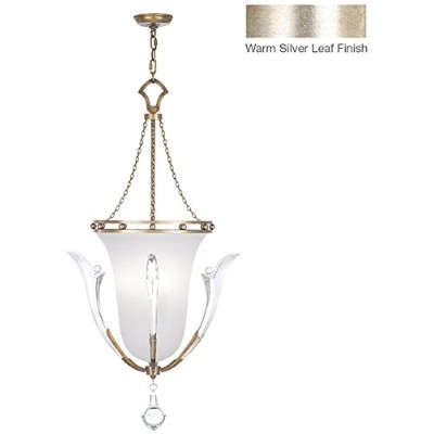 FineアートLamps 864140、Ice Sculpture Large Coneペンダント、3ライト、60ワット、Tonedシルバー