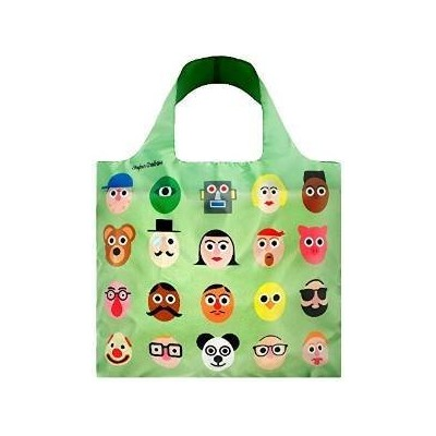 LOQI Artist Faces Reusable Shopping Bag, Multicolored by LOQI