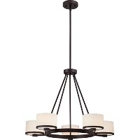 Nuvo Nuvo60/5575 Celine 5-Light Chandelier with Etched Opal Glass by Nuvo