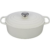 Le Creuset Signature Enameled cast-iron 6 – 3 / 4-quart Oval French Oven 6.75 qt ホワイト LS2502-3116SS