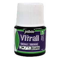 Pebeo Vitrail Stained Glass Effect Glass Paint 45-Milliliter Bottle, Violet by Pebeo