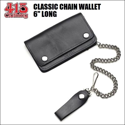 """415 CLOTHING / CLASSIC CHAIN WALLET / チェーンレザーウォレット・6"""" LONG"""