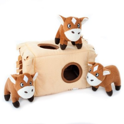 ZippyPaws Burrow Squeaky Hide and Seek Plush Dog Toy, Horse N Hay by ZippyPaws