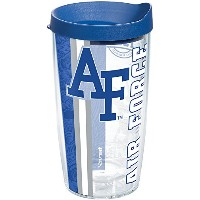 Tervis Air Force Academy College Prideラップ16oz Tumbler withブルー蓋、クリア