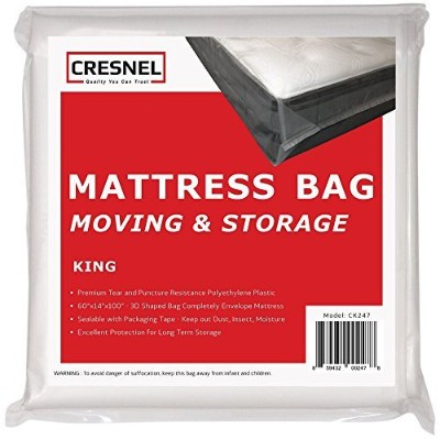 (1, King) - CRESNEL KING Size Super Thick Heavy Duty Mattress Bag - Fits Standard, Extra-Long, Pillow-top variation - Durability guarantee for moving and long term storage
