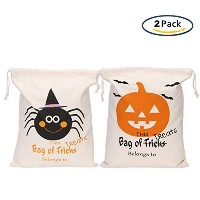 XunlongハロウィンTrick or Treatバッグコットンキャンバストートギフトパンプキンバッグfor Kids Presents Pattern B