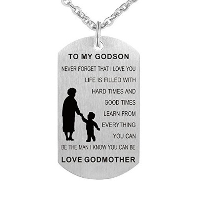 To My Godson Goddaughter誕生日ギフトジュエリーキーチェーンペンダントネックレスからGodmother