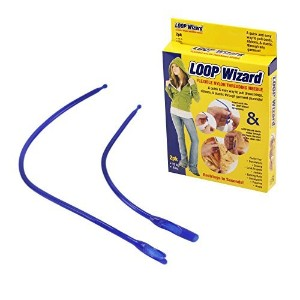 2pc LOOP Wizard Flexible Nylon Threading Needle - Restring Clothing in Seconds by Loop Wizard