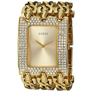 ゲス GUESS Women's U0085L1 Rocker Glitz Multi-Chain Gold-Tone Bracelet Watch 女性 レディース 腕時計 【並行輸入品】