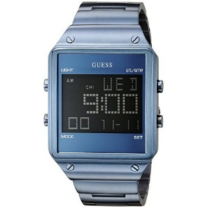 [ゲス]GUESS 腕時計 Iconic Sky Blue Digital Watch with Alarm, Dual Time Zone and Chronograph Functions...