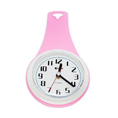 UPIT Water Drop shape water resistance Clock Pink 10.5 x 4 x 21cm (4.13 x 1.57 x 8.27 inch)