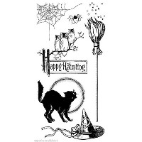 HAMPTON ART GRAPHIC 45 Clear Stamps HAPPY HAUNTING Halloween by Graphic 45
