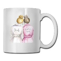 面白い引用Mug with Sayings – Bridesmaid Thermal花嫁Bestie – Gift Idea Coff Mugセラミックホワイト11 oz