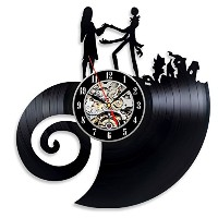Vinyl Evolution Nightmare Before Christmas Love Wall Clock [並行輸入品]