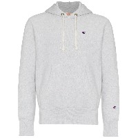 Champion light grey reverse weave terry cotton hoodie - グレー