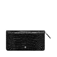 メンズ MONTBLANC LEATHER - MEISTERSTÜCK SELECTION LIZARD PRINT WALLET 8CC ZIP AROUND BK 財布  ブラック