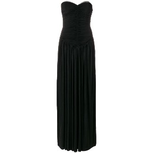 Alexander Wang sweetheart ruched bodice evening dress - ブラック