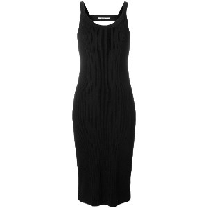 T By Alexander Wang stretch open back dress - ブラック
