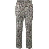 Peserico plaid cropped trousers - グレー