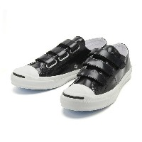 【CONVERSE】 コンバース JACK PURCELL V-3 CG LEATHER R ジャックパーセル V-3 CG レザー R 32243321 BLACK