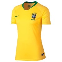 ナイキ レディース サッカー トップス【Brazil Breathe Stadium Jersey】Midwest Gold/Lucky Green