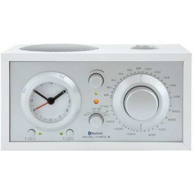 【送料無料】Tivoli Audio M3BT-1774-JP Tivoli Model Three BT White/Silver [アラームクロック付き AM/FMテーブルラジオ]