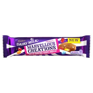 Cadbury Dairy Milk Marvellous Creations Jelly Popping Candy Bar 47 g (Pack of 24)