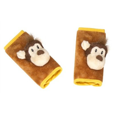 Animal Planet Strap Covers, Monkey, Brown, Orange, Infant Car Seat Strap Covers, Baby Seat Belt...