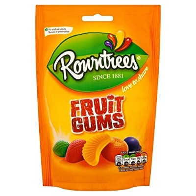 Rowntrees Fruit Gums 150g (Pack of 2) - Rowntreesフルーツガムの150グラム (x2) [並行輸入品]