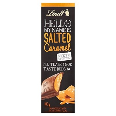(Lindt (リンツ)) ハロー塩漬けキャラメル100グラム (x2) - Lindt Hello Salted Caramel 100g (Pack of 2) [並行輸入品]