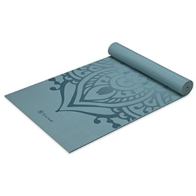 (Niagra) - Gaiam Yoga Mat - Premium 6mm Print Extra Thick Exercise & Fitness Mat for All Types of...