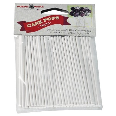 Nordic Ware 01175 50 Count Cake Pop Sticks by Nordic Ware