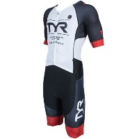 TYR(ティア) SHORT SLEEVE ULTIMATE TRI-SUIT W/FRONT ZIPPER SMLG1-18S BKRD L