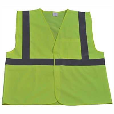 Petra Roc LV2-EC-4X-5X Safety Vest Economy Line Ansi Class Ii Lime Solid44; 4X & 5X