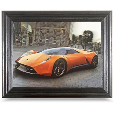 Lenticular Framed画像と画像ポスターバンドル2付属。Holographic 3dアート画像と変更。ホログラム部屋装飾。 Cars