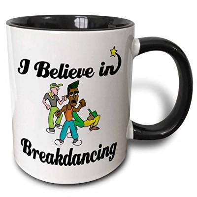 3drose Dooni Designs I Believe In – I Believe In Breakdancing – マグカップ 11 oz ホワイト mug_104871_4
