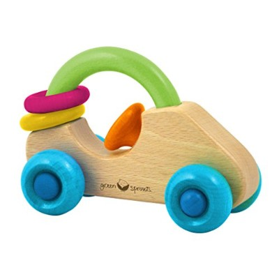Green Sprouts Car Rattle - Natural Wood - 6 Months Plus - 1 Count