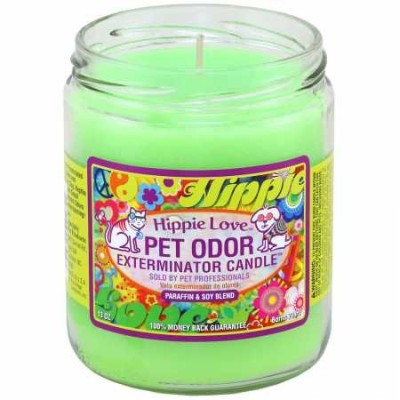 Pet Odor Exterminator Candle Hippie Love Jar (13 oz) by Specialty Pet Products