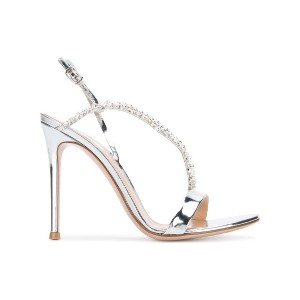 Gianvito Rossi crystal embellished sandals - メタリック