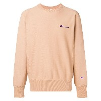 Champion small script sweatshirt - ヌード&ナチュラル