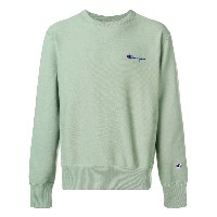 Champion small script sweatshirt - グリーン