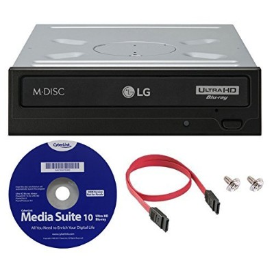 LG wh16ns6016x内部Blu - ray BDXL M - Discドライブ( withウルトラHD 4K再生) Bundle with CyberLinkソフトウェアとSATAケーブ...