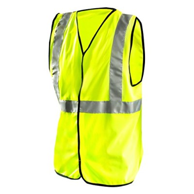 Occunomix LUX-SSG-YL Class 2 High Visibility Solid Standard Vest, Large, Yellow by Occunomix