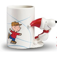 Peanuts Snoopy and Charlieブラウンセラミッククリスマススケートマグ – 18 oz